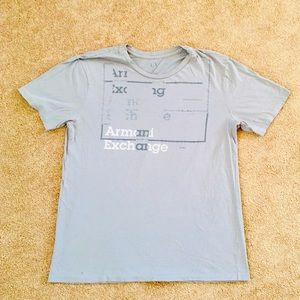 Armani Exchange T-shirt Men's Size Medium Lt Grey